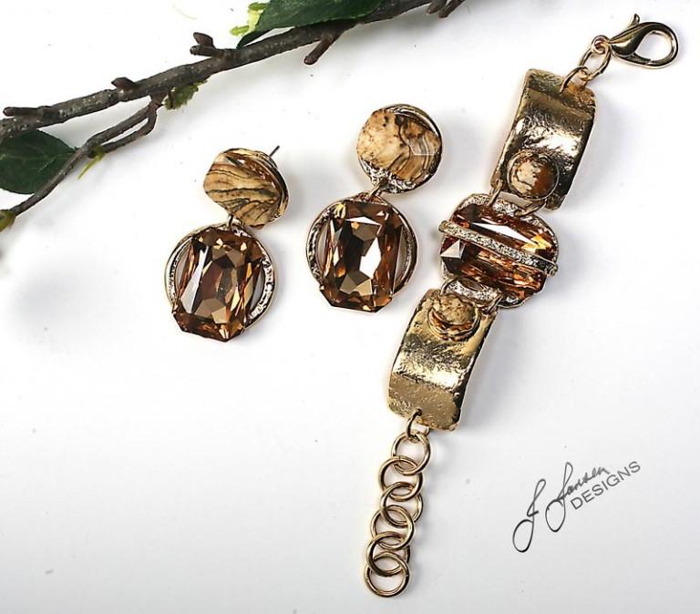 Earrings Bracelets & Rings 141 - Set