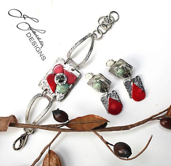 Earrings Bracelets & Rings 216 - Set