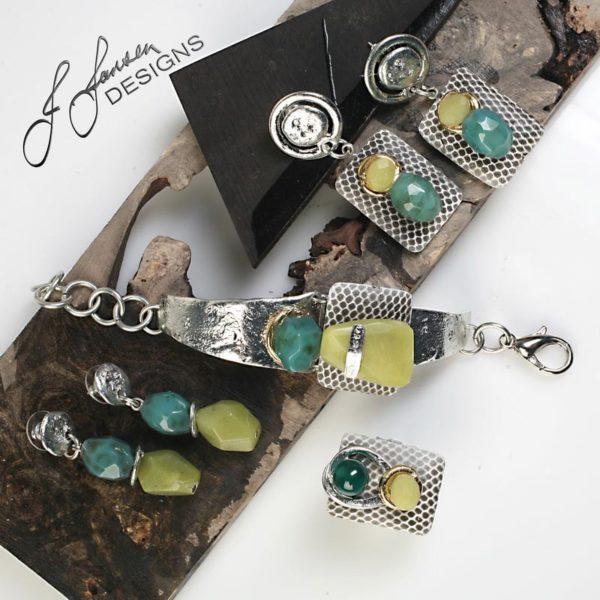 Earrings Bracelets & Rings 258 - Earrings - Set