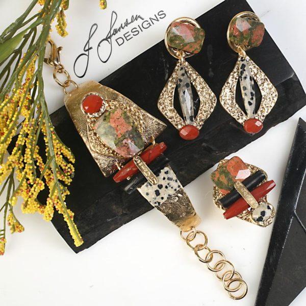 Earrings Bracelets & Rings 65 - Set