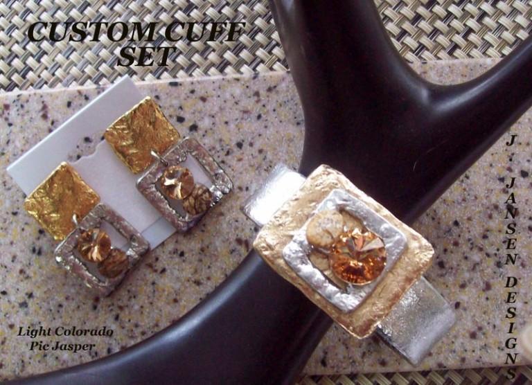 Cuff Bracelet 474 - Earrings